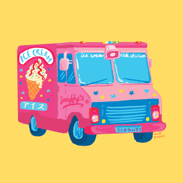 Ice Cream Truck By Kitt Byrne Illustration Illustrated Environment Objects Design Digital Painting Digitalpainting I Ice Cream Truck Ice Cream Van Van