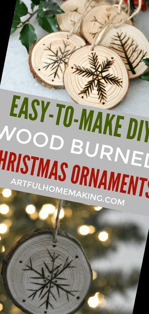 10+ Rustic Wood Slice Christmas Ornaments Diy Tuto