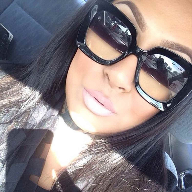 XXL Large Oversized Square Women Sunglasses Retro Fashion Thick Plastic Frame