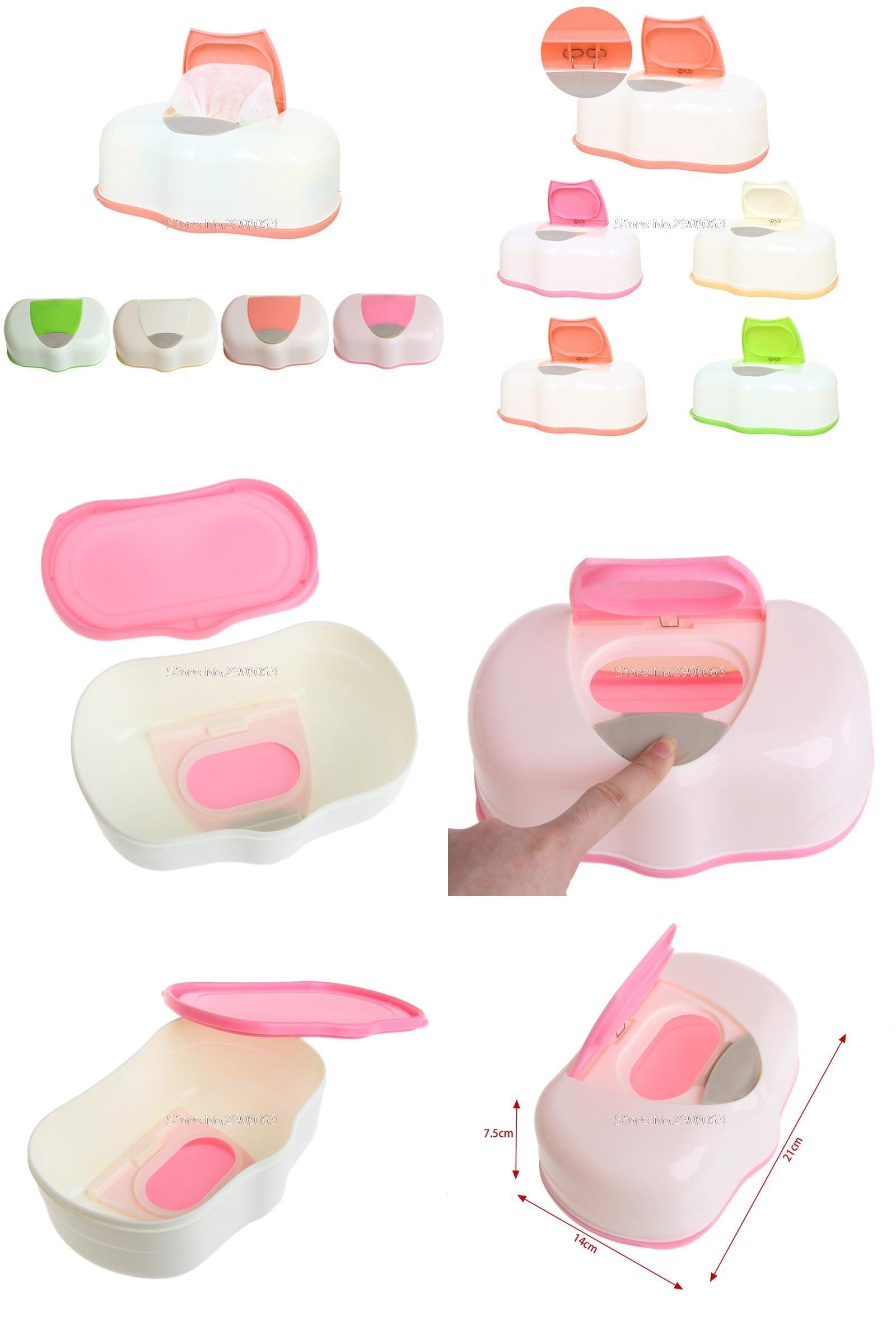 Visit to Buy] Tissue Box Plastic Wet Wipes Storage Case Box ...