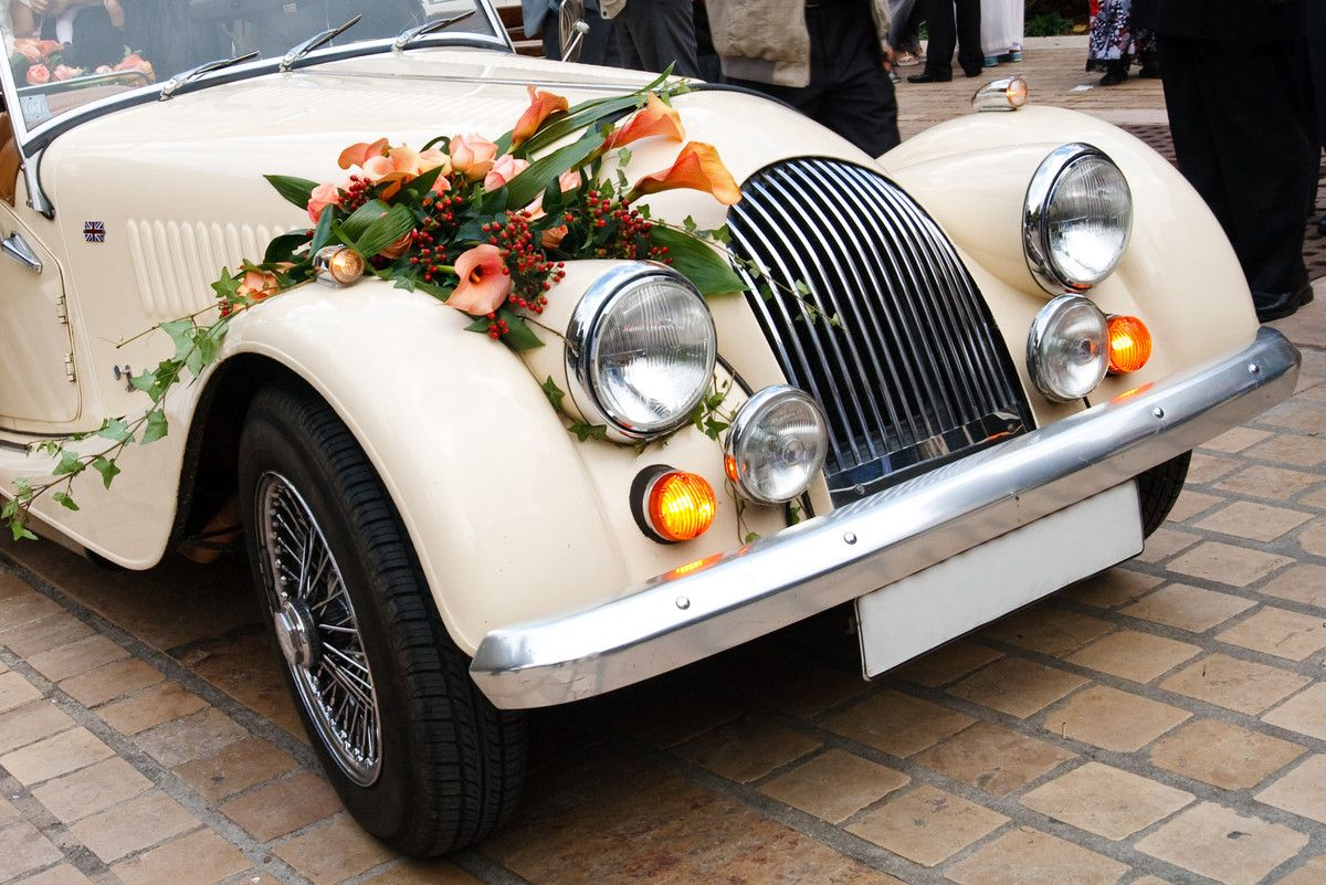 Vintage Car With Flowers Decoracin Pinterest Wedding Cars