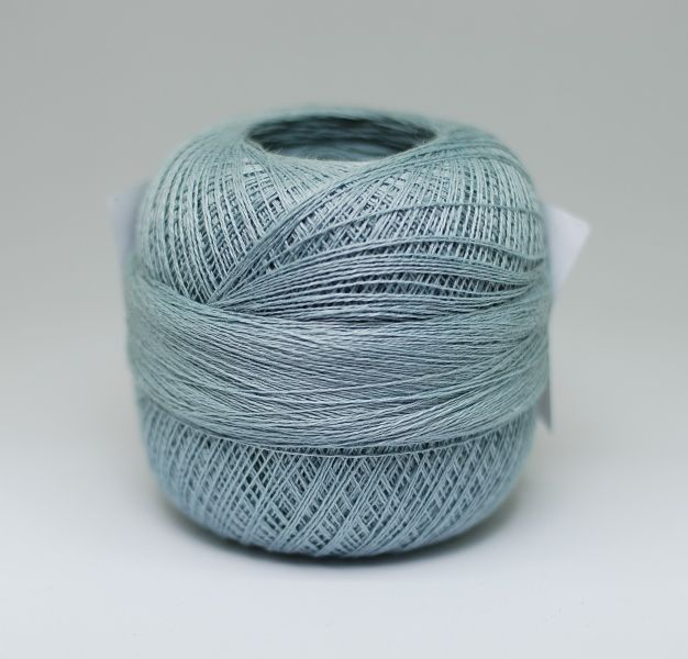 Lithuanian linen yarns 2ply 100g, col  grey blue   Beautiful