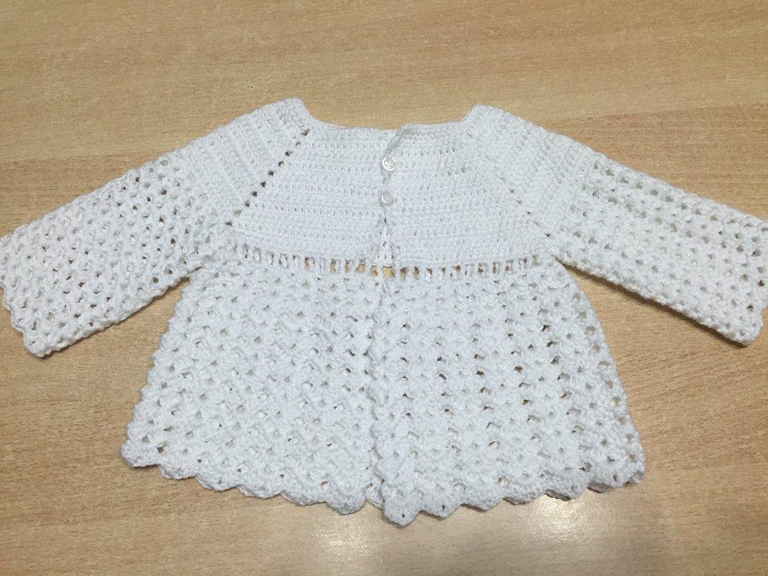 Tuto facile brassiere, veste bb au crochet | tricot crochet bébé ...