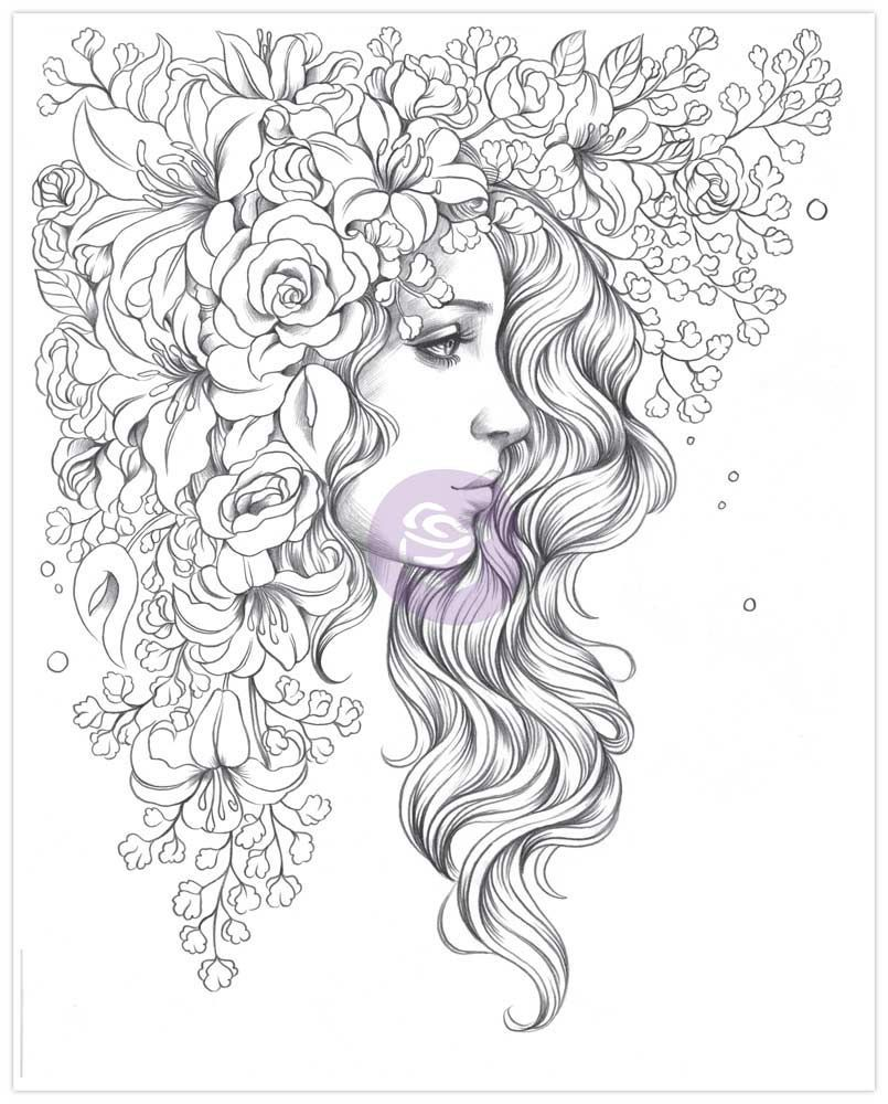 Prima Princesses Coloring Book By Marketing For Scrapbooks Cards Crafting