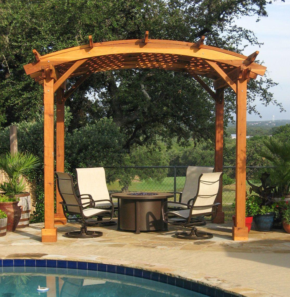 Best Arched Pergola Options 12 X 10 Arc W Redwood 400 x 300