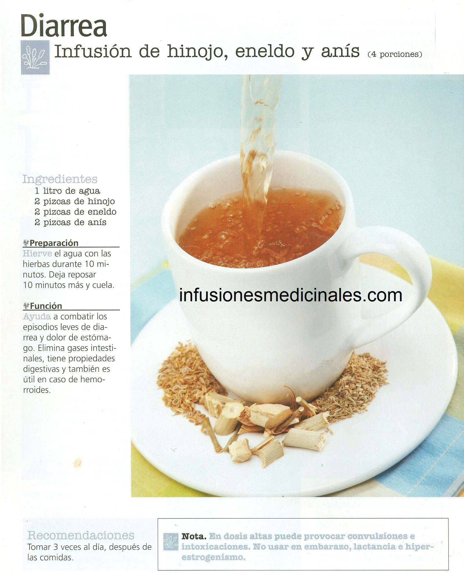 Bebidas naturales para la diarrea