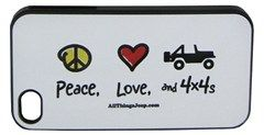 "All Things Jeep - ""Peace, Love, and 4x4s"" iPhone Hard Case by All Things Jeep"
