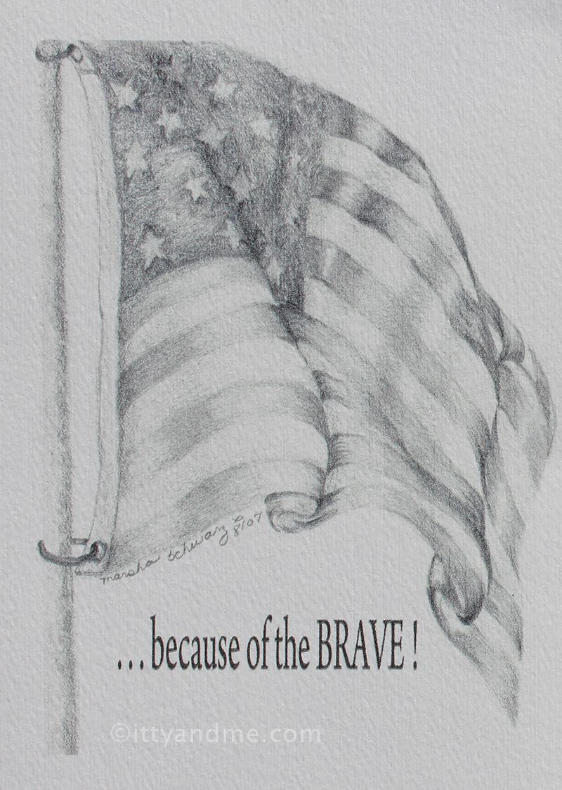My Pencil Drawing God Bless Our Soldiers Www Ittyandme Com With
