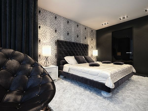 Splash Of Color In A Black White Environment Bedroom Dining Room Sets And