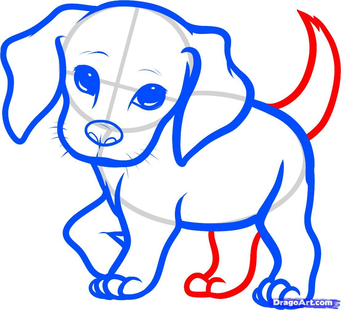 How To Draw A Beagle Puppy Beagle Puppy Step By Step Pets Animals Free Online Drawing Tutorial Added Dog Drawing Simple Puppy Drawing Easy Puppy Drawing
