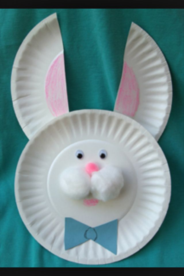 Paper plate bunny & Paper plate bunny | Easter Ideas | Pinterest | Bunny Easter and ...