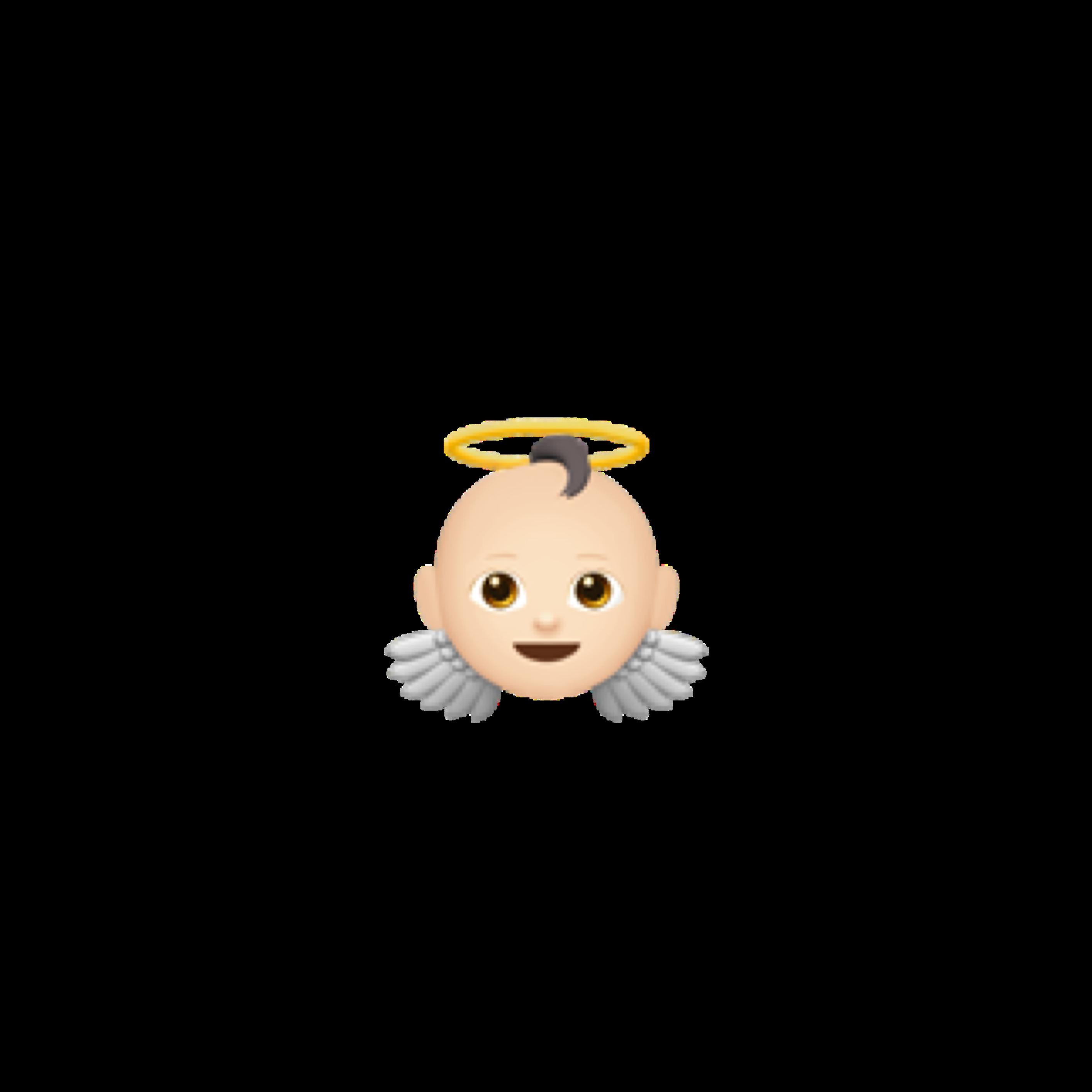 Emoji Baby Angel Png Picsart Ios Iphone Gravador De Tela Emojis Animal De Estimacao