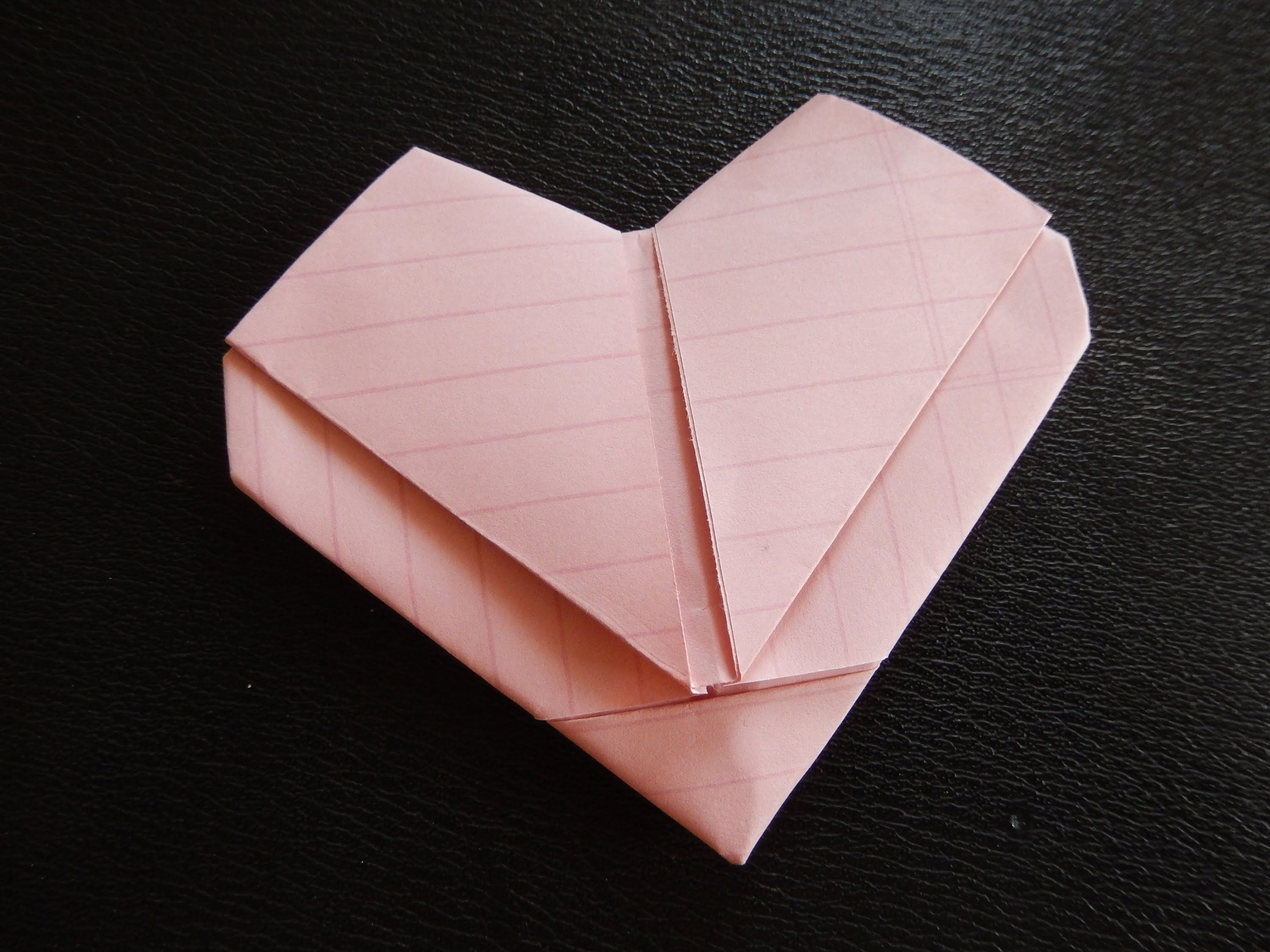 Day 17 How To Make Heart Out Of Regular Size Paper How To Fold Notes Valentines Letter Paper Heart