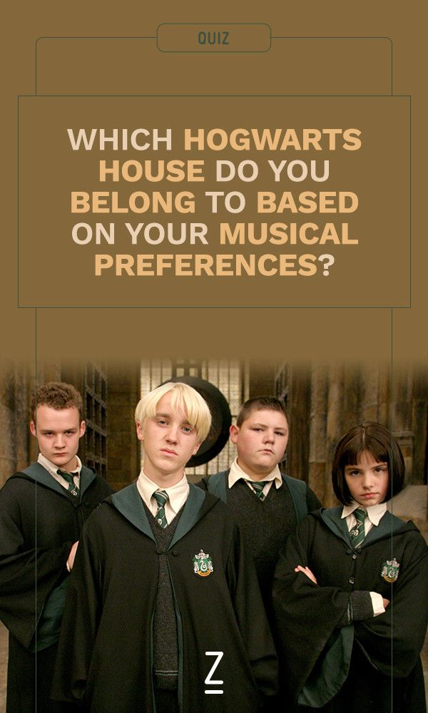 Which Hogwarts House Do You Belong To Based On Your Musical Preferences Harry Potter House Quiz Harry Potter Quiz Harry Potter Music
