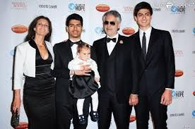 Andrea Bocelli With Second Wife Two Grown Sons Young Daughter