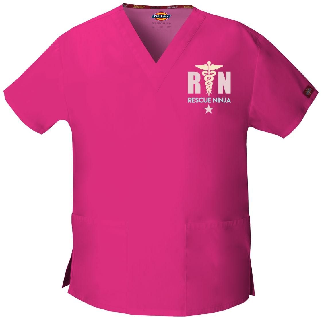 Rescue Ninja Embroidered Scrub Top. Click Image For More Info.