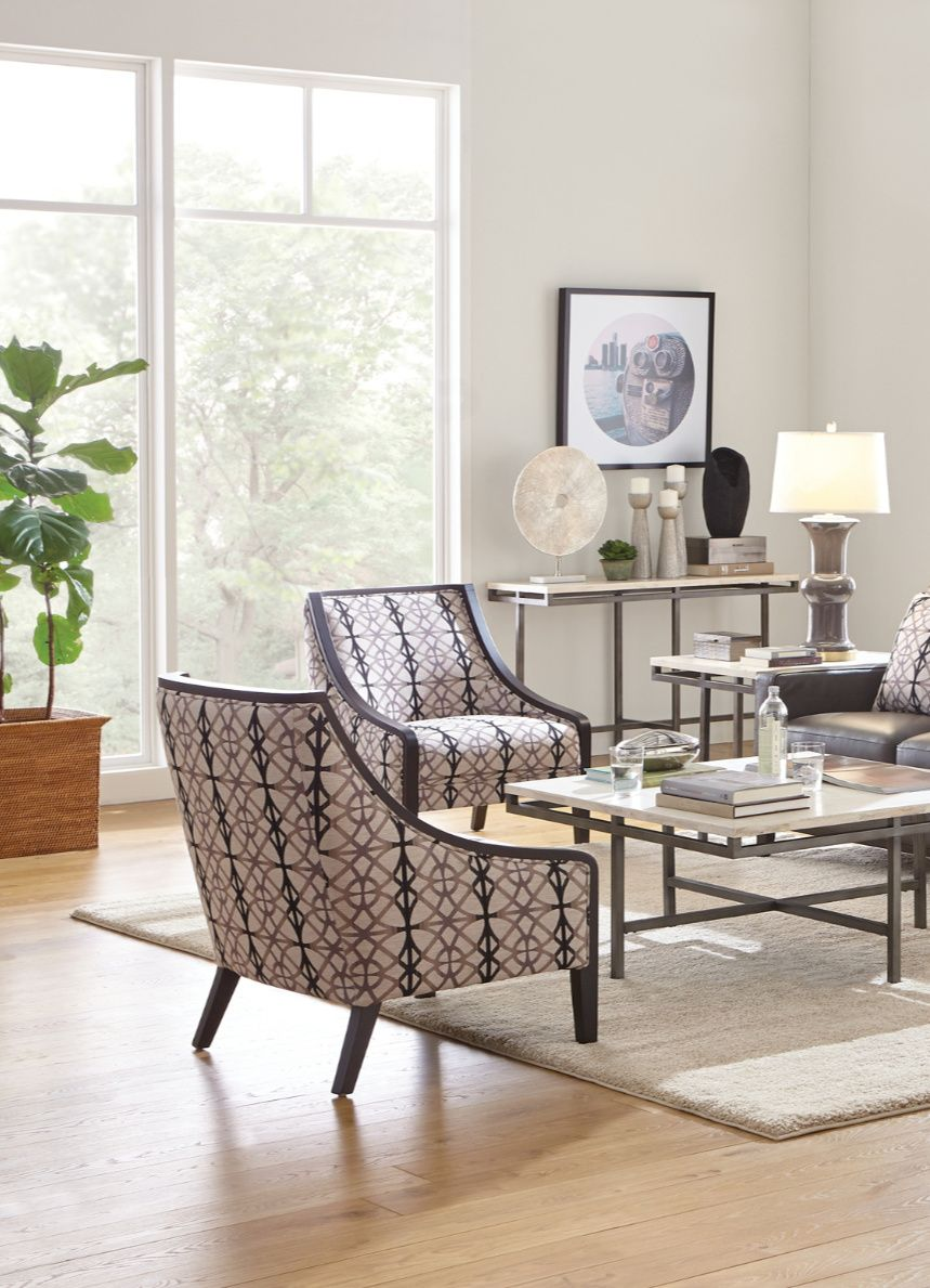 Accent in Gray and Black Comfortable accent chairs