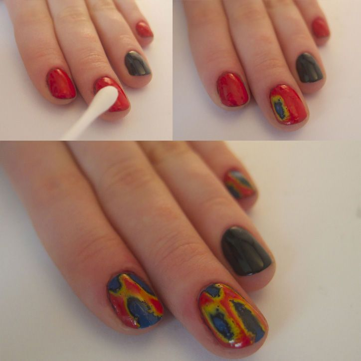 An Ikat And Floral Nail Art How To Inspired By Oscar De La Rentas