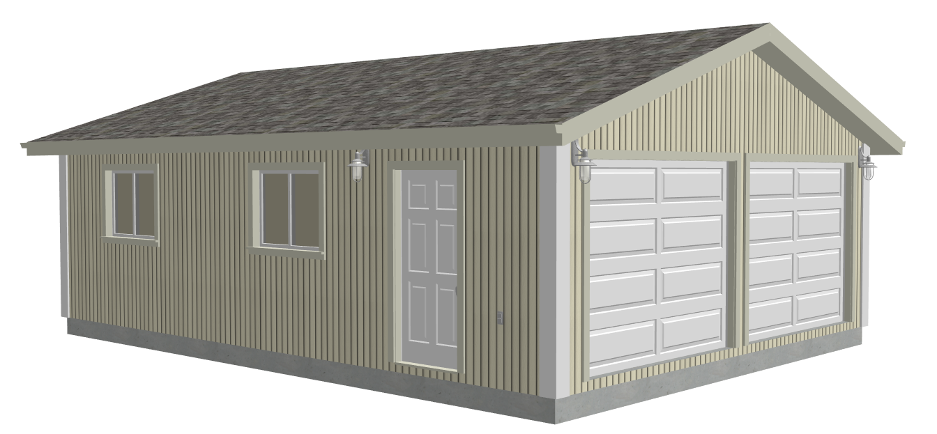 G529 22 X 30 X 8 Garage Plans Dwg And Pdf Sds Plans Garage Plans A Frame Cabin Plans A Frame Cabin