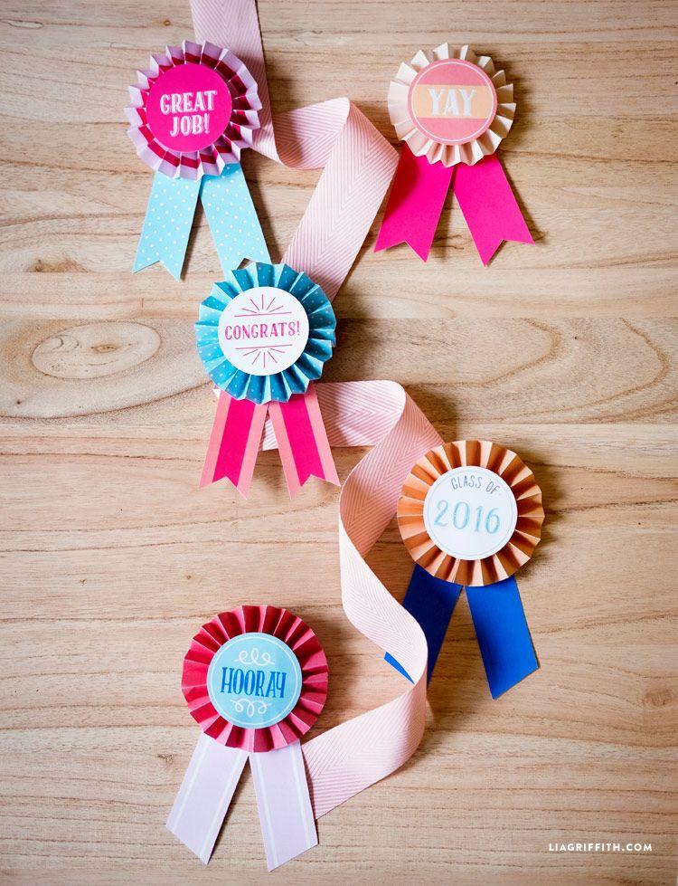Graduation Award Ribbons Award Ribbons Crafts For Kids Paper