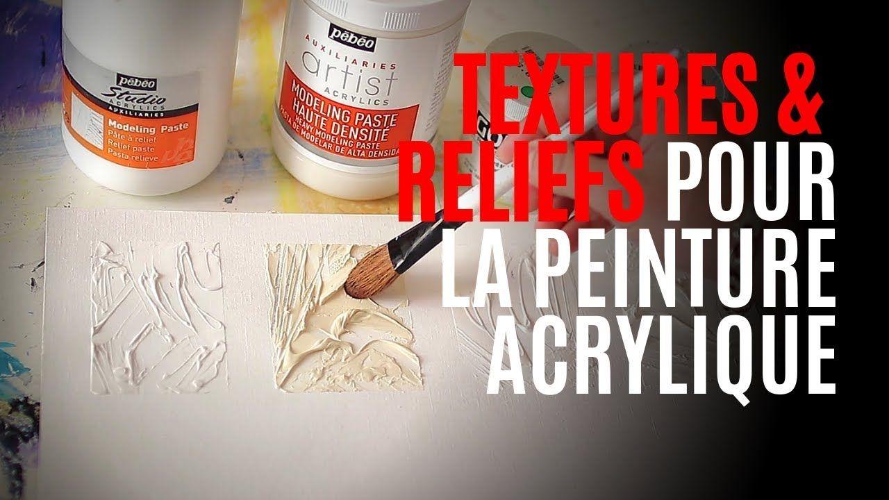 Comment Faire Des Reliefs Textures Effets De Matia Res Pour La Peinture Modeling Paste Y Apprendre La Peinture Cours De Peinture Artiste Peintre Abstrait