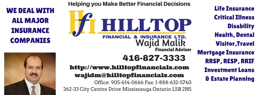 HILLTOP Financial & Insurance Ltd. is a Canadianbased