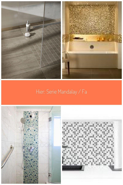 Hier Serie Mandalay  Farbe rauchbraun mosaikfliesen ideen Duschboden in Holzoptik  mit Fliesen von AGROB BUCHTAL kein Problem
