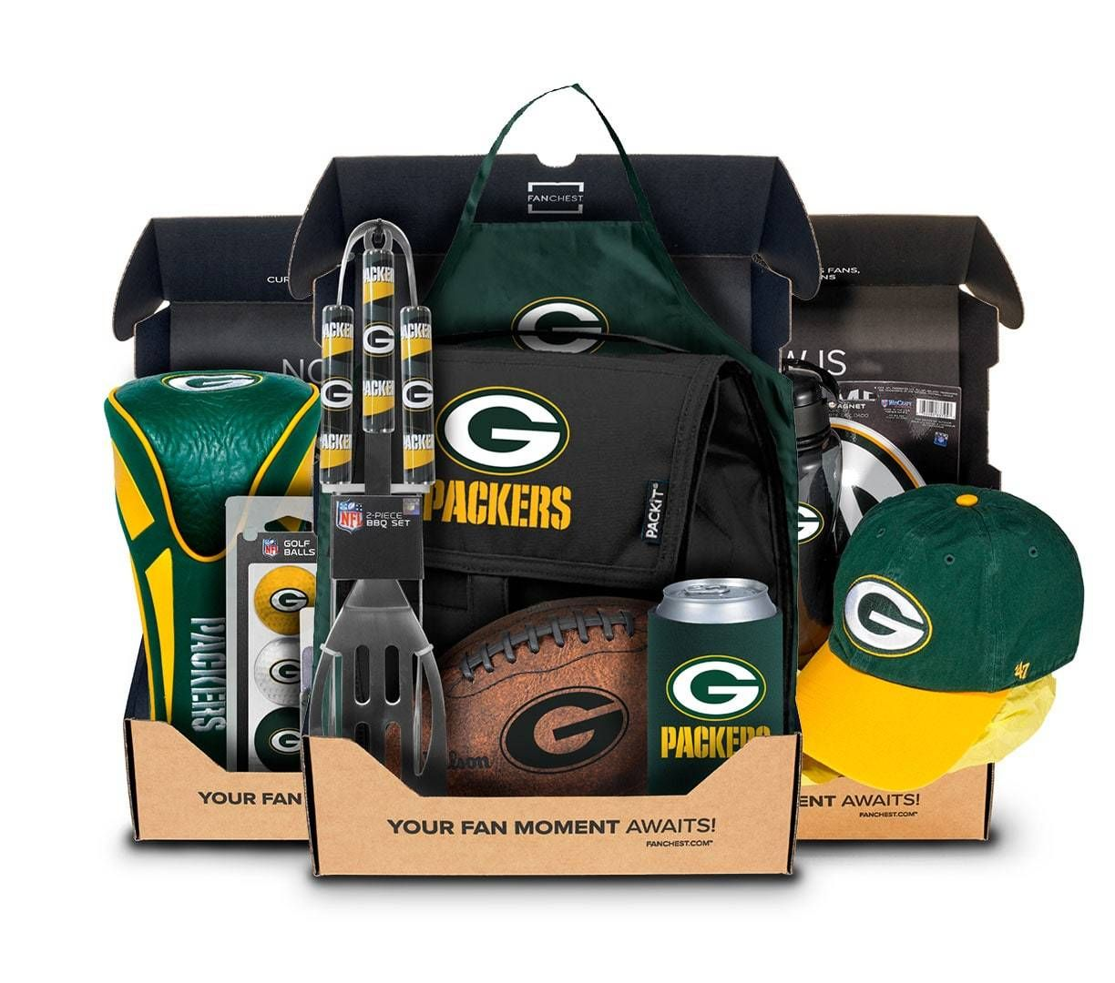 Packers Themed Gift Box Golf Tailgate Gear For Fans Green Bay Packers Gifts Packers Gifts Green Bay Packers