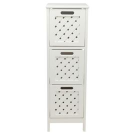Tesco Direct Sheringham Bathroom Tower, Plastic Drawer Cabinet Tesco