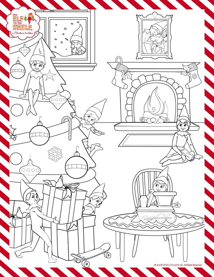 Print this sheet out for some Christmas coloring fun
