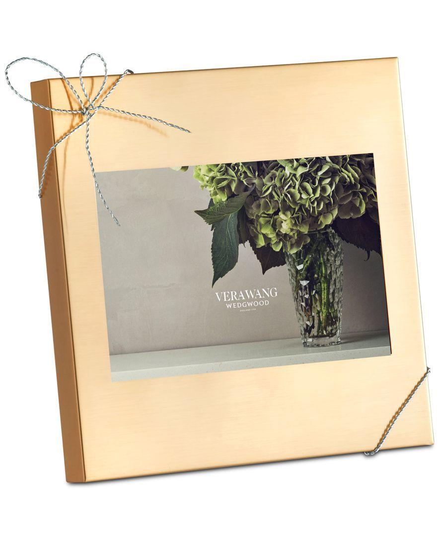 Vera Wang Wedgwood Love Knots Gold 4x6\