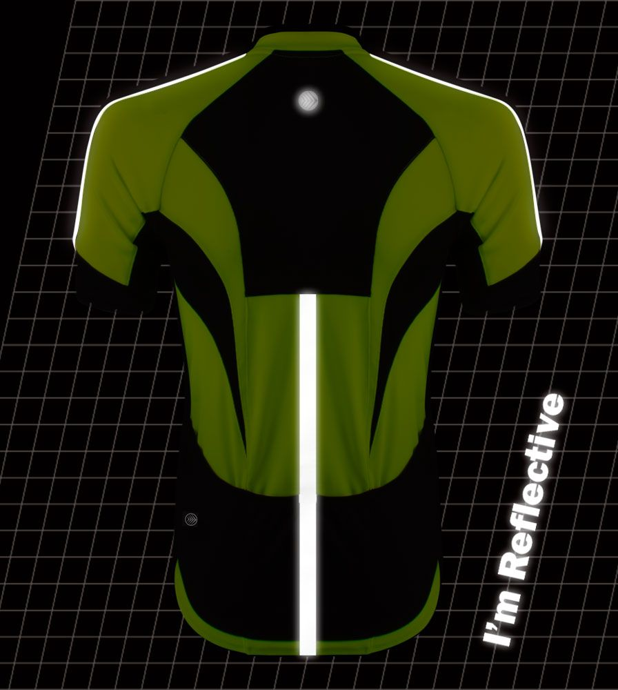 High Vis Reflective Cycling Jersey - Made for Visibility and Safety while  Cycling eddce0821