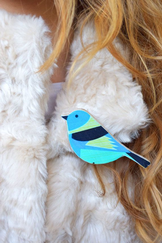 Bird brooch wood pin wooden jewelry animal pin birthday party favors bird wood brooch gift for girlfriend gift for mom blue kids pin baby pin scarf accessory handbag accessory shawl pin easter gift spring gift negle Image collections