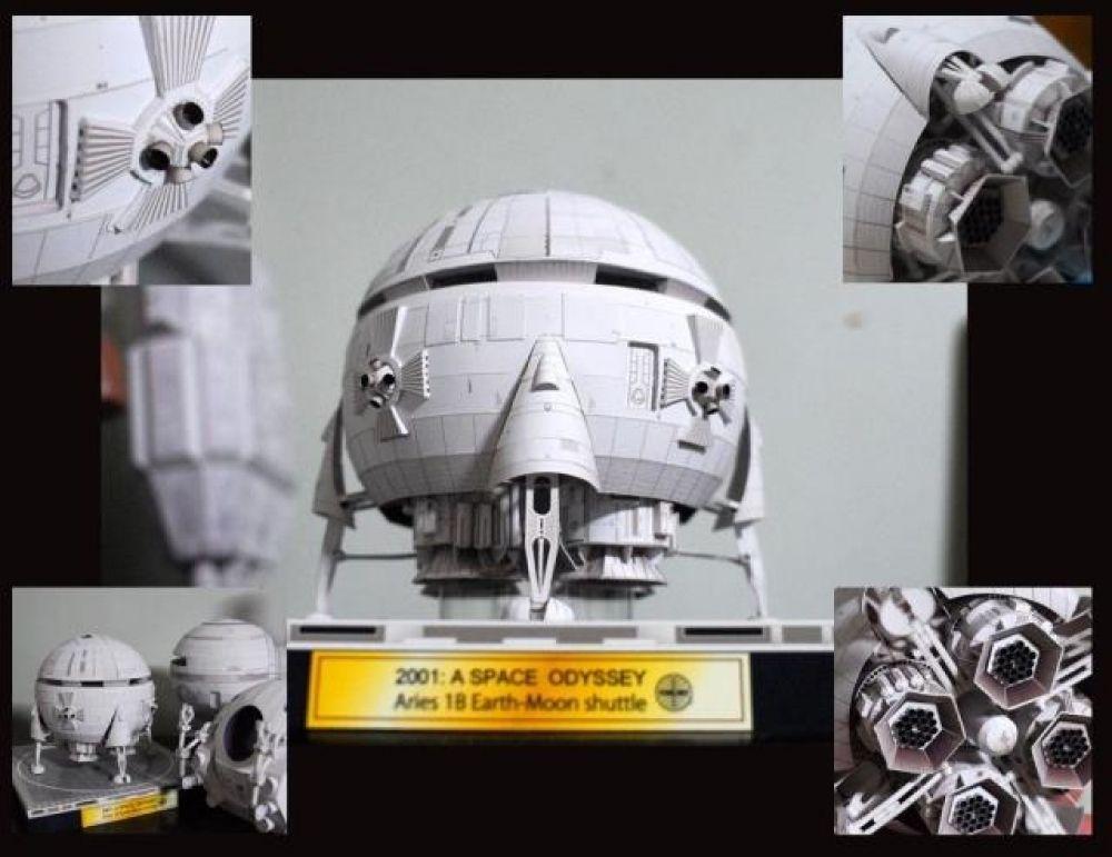 Film 2001 A Space Odyssey Aries 1B Moon Bus Shuttle Handcraft Paper Model Kit