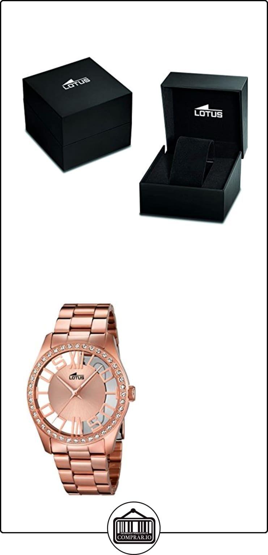 447f94f07d Lotus - Reloj de cuarzo para mujer con oro rosa esfera analógica y acero  inoxidable bañado