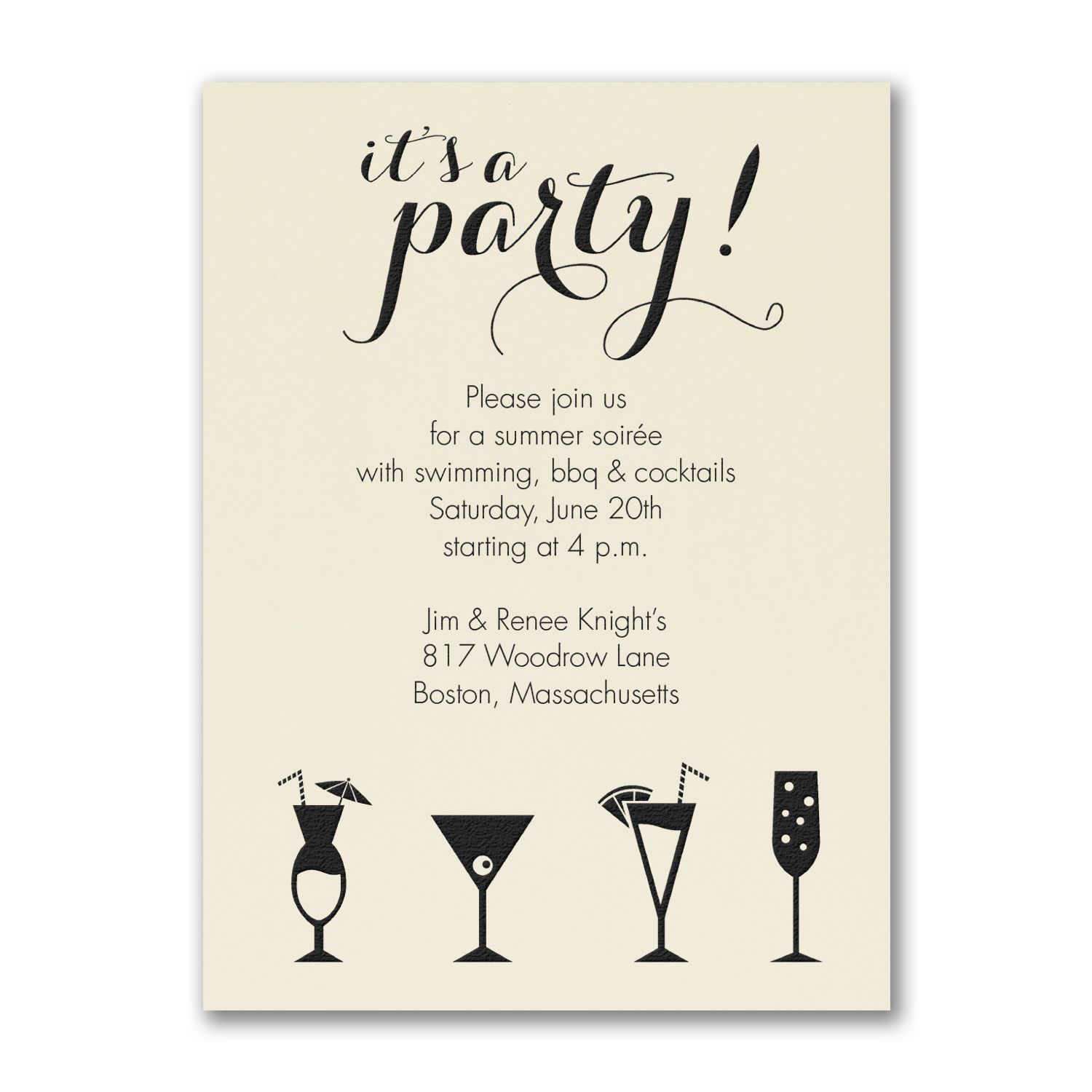 it u0026 39 s a cocktail party - party invitation