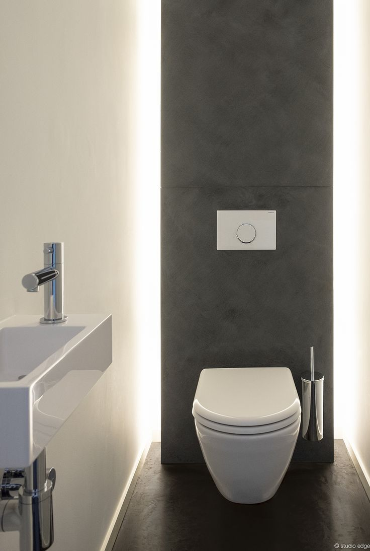 Studio edge interior design design of a toilet with for Small wc ideas