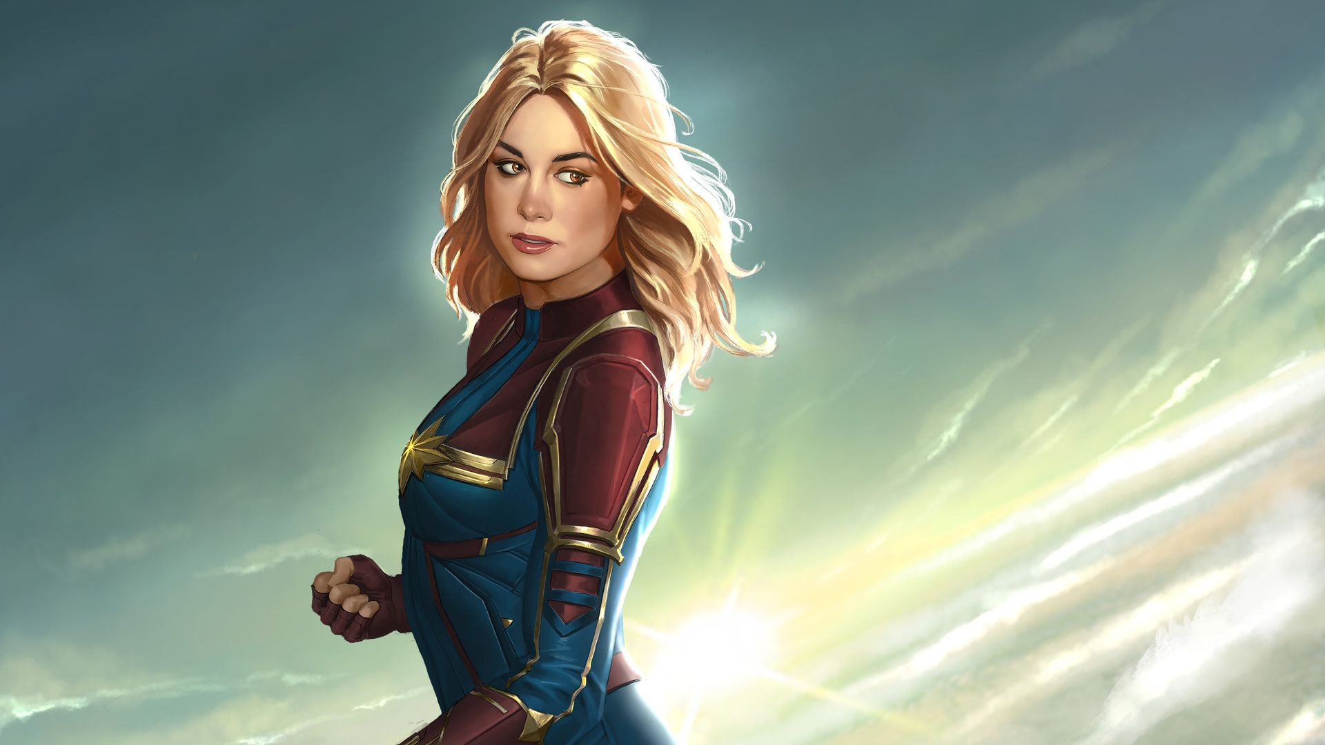 Captain Marvel New Artworks Movies Wallpapers Hd Wallpapers Digital Art Wallpapers Carol Danvers Wallpapers Captain Marvel Movie Wallpapers Marvel Wallpaper