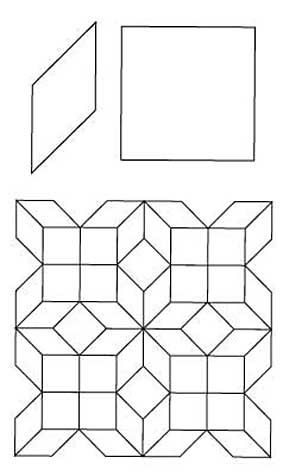 English Paper Piecing 8 Point Diamond Squares Pattern