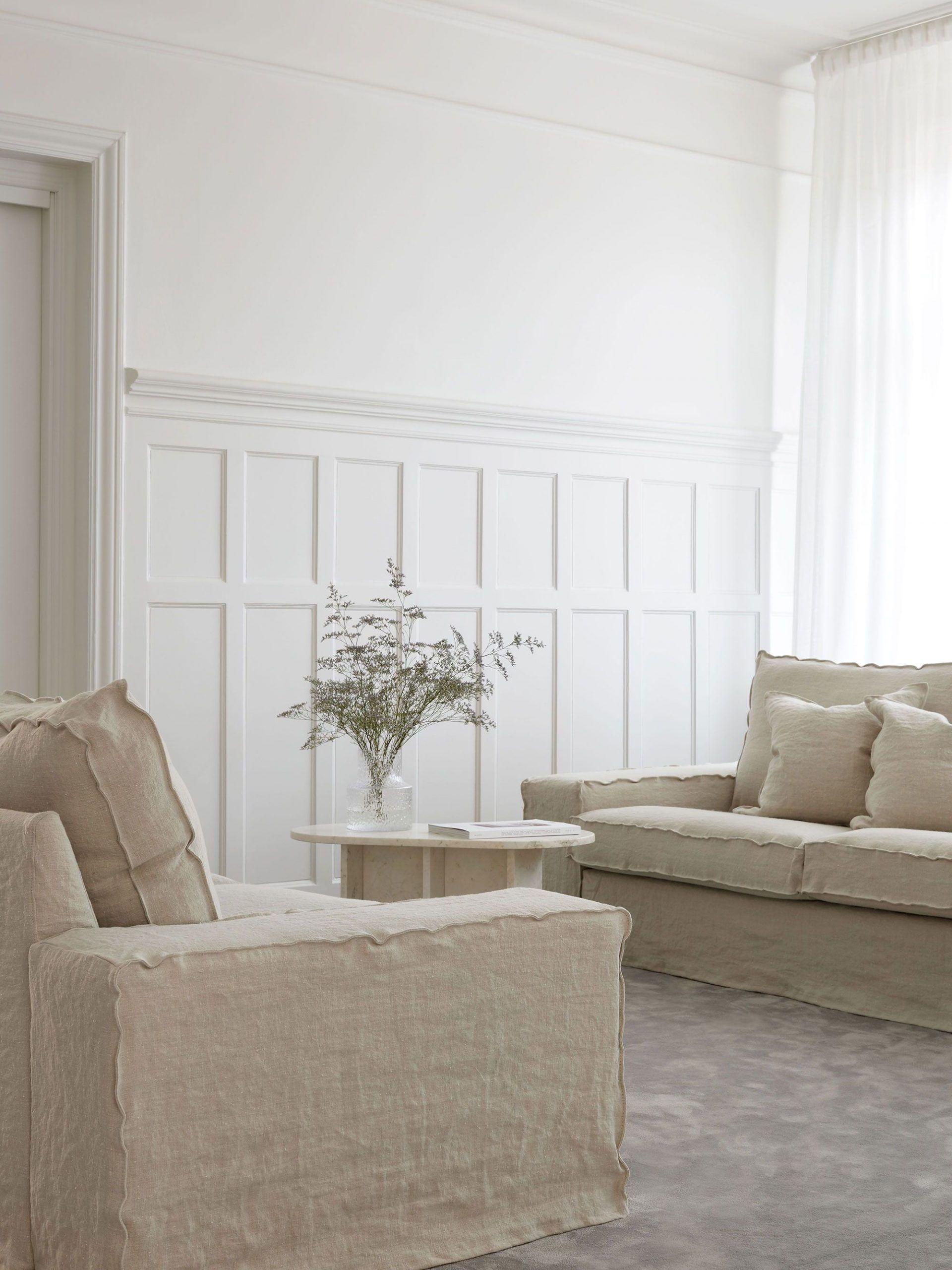 Kivik 3 Seater Sofa Cover Loose Fit In 2020 Ikea Kivik Kivik Sofa Linen Sofa