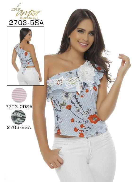 7db6c0cdd69 Blusa Moda Colombiana Solo Amor