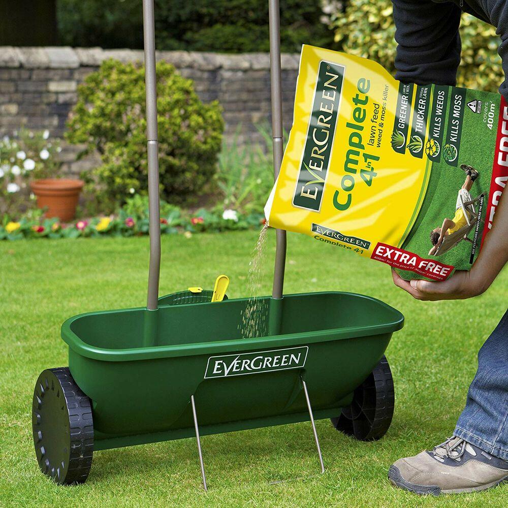 Garden Feed Spreader Dispenser Scatterer Plus Seed Soil Lawn Grass