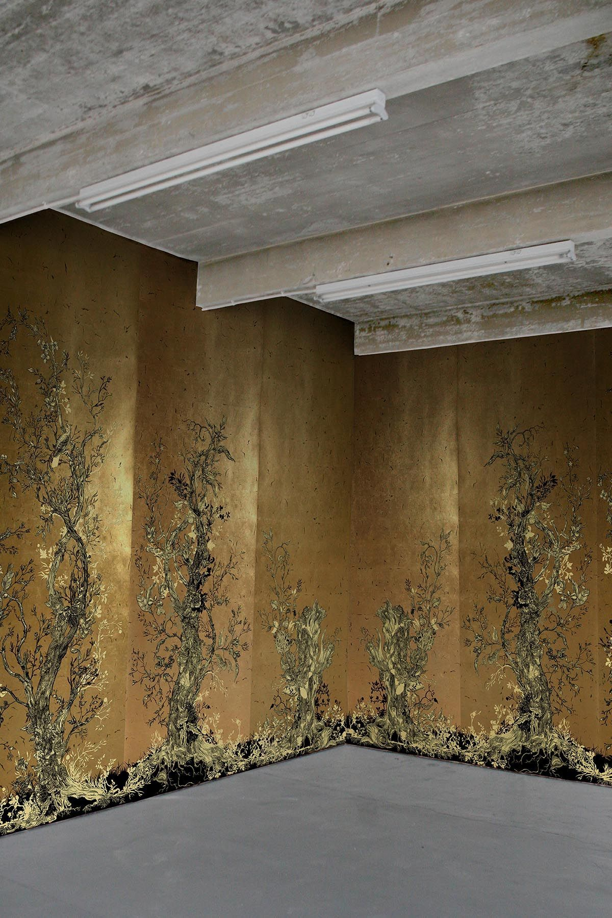 Timorous Beasties Wallcoverings - Golden Oriole wallpaper panels