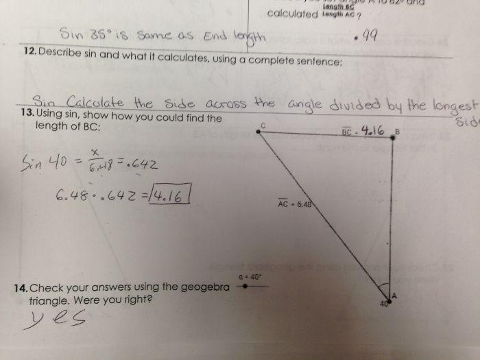 Discovering Trigonometric relationships using geogebra. Great trigonometry intro activity.