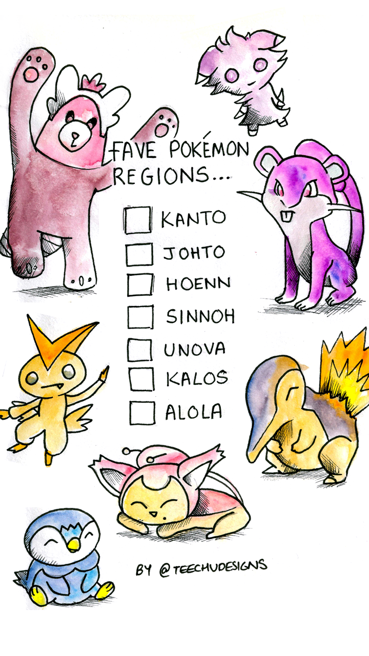 favourite pokemon regions which are yours tick your faves free