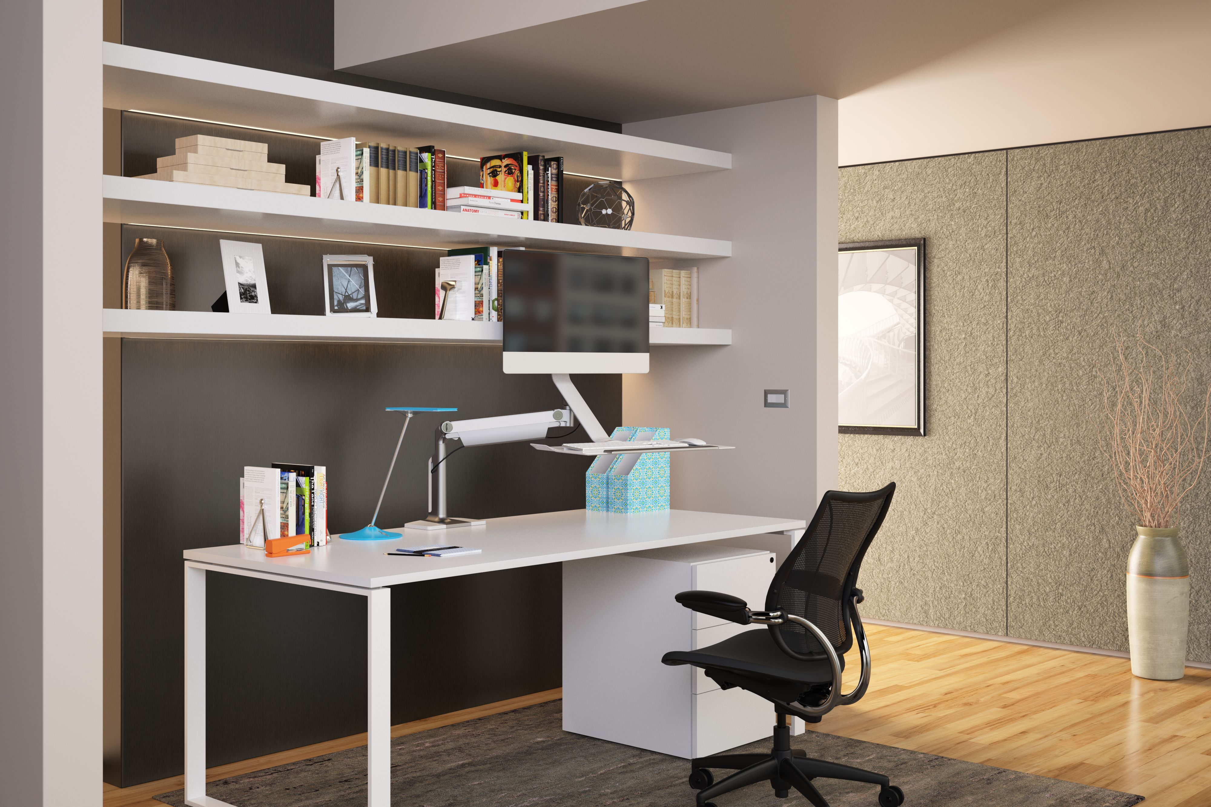 Ergonomic home office Small Humanscale Horizon Table Light Ergonomic Office Home Office Ideas Inspiration Sit Stand Standing Desk Sustainable Design Ebay Humanscale Horizon Table Light Ergonomic Office Home Office