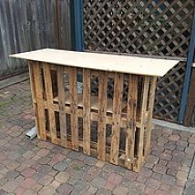 Building a Tiki bar from pallets -   20 diy bar party ideas