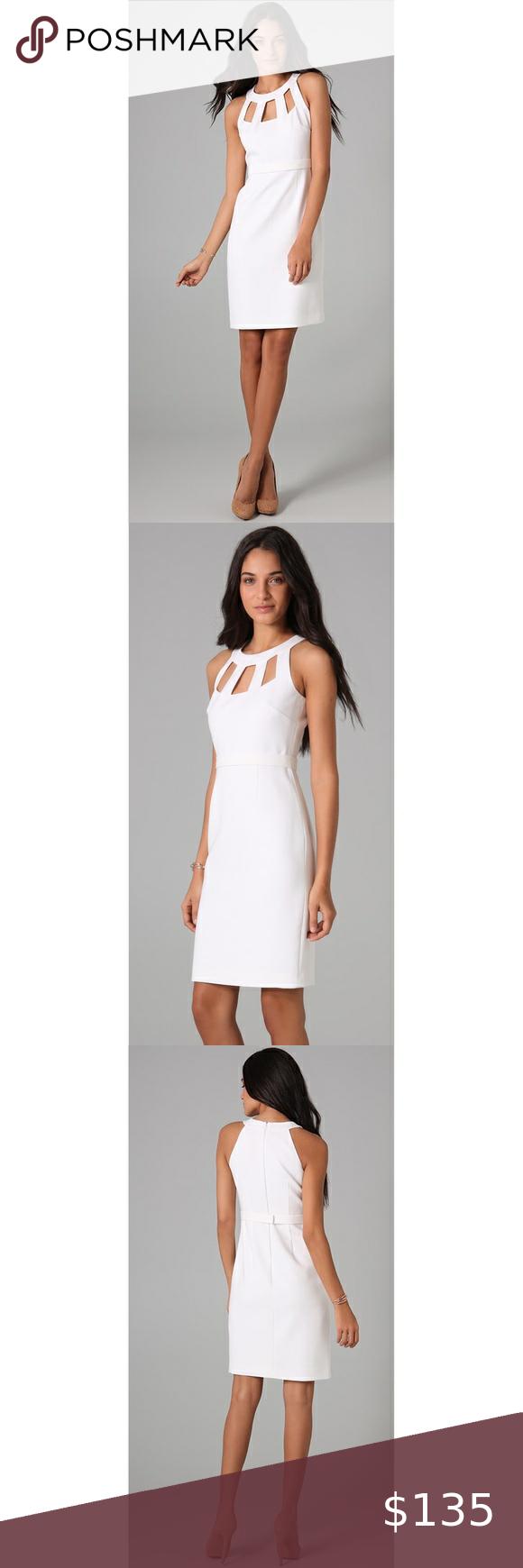 New 398 Elie Tahari White Creme Lucy Dress Dresses Lucy Dresses Elie Tahari Dresses [ 1740 x 580 Pixel ]