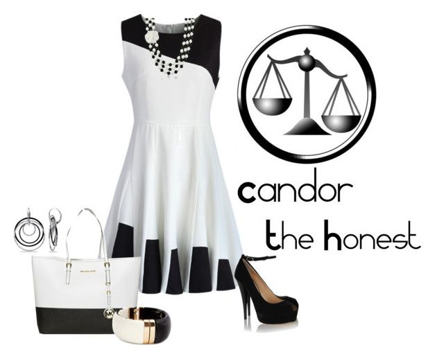 Zeus, Patron of Candor by jawind on Polyvore featuring polyvore, fashion, style, Chicwish, Giuseppe Zanotti, MICHAEL Michael Kors, H&M, AZ Collection, Ice, women's clothing, women's fashion, women, female, woman, misses and juniors