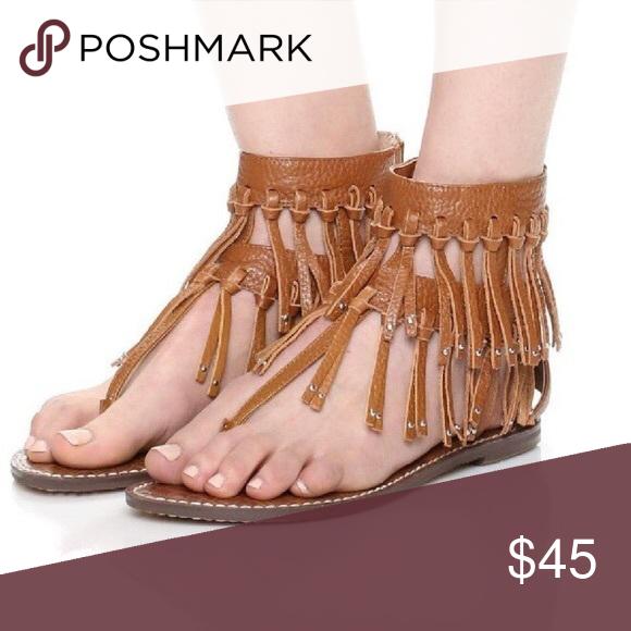 4370ef0fa Sam Edelman Griffen Fringe Sandals Sam Edelman Griffen Fringe Sandals Size  8 Sam Edelman Shoes Sandals
